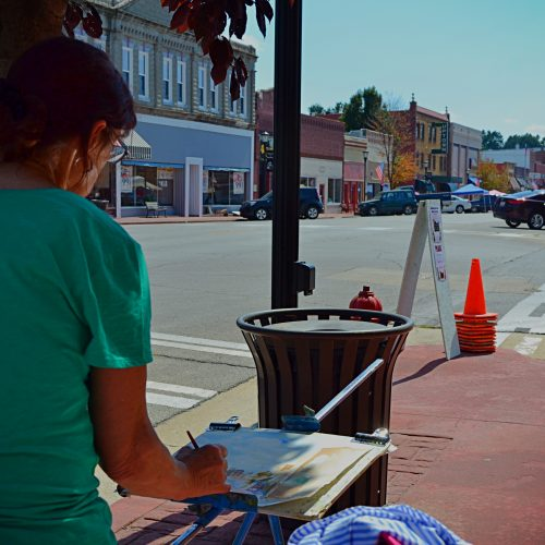 Paint the town artist working