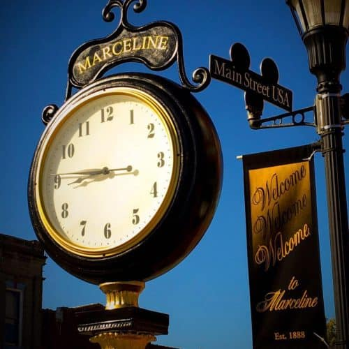 Marceline Clock evening time