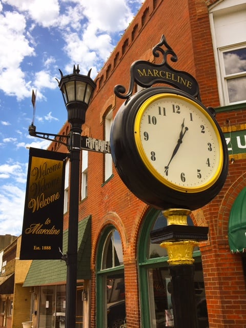 Downtown clock day time